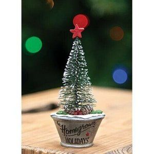 Homegrown Christmas Mini Resin Tree in Planter Fig